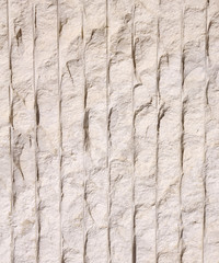 Limestone with many vertical lines