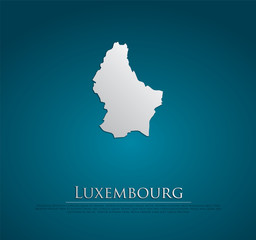 vector Luxembourg Map card paper