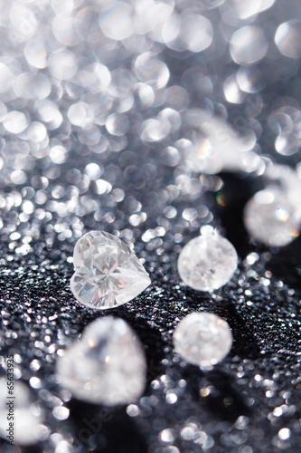 diamonds on black background - 65633935
