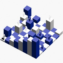 3d figure - another chess (theory chaos)
