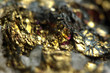 Golden metal background. Macro - 65635138