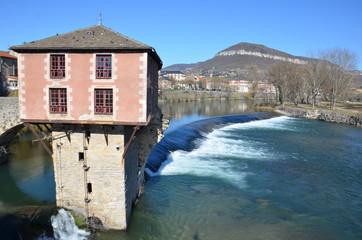Pont vieux et vieux moulin, Millau