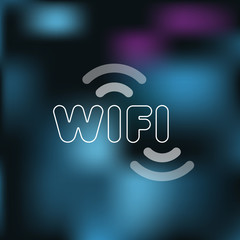 Wifi sign with blurred background