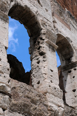 Detail of Ancient Colosseum in Rome