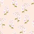Seamless pattern flowers on nemesia