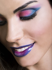 Make-up con sorriso