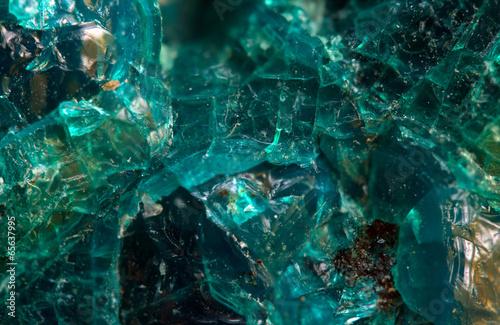 Poster Edelsteen Crystal stone. Extreme closeup.Macro