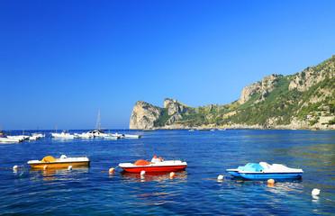 View of the Amalfi Coast of Tyrrhenian Sea (Campania, Italy)