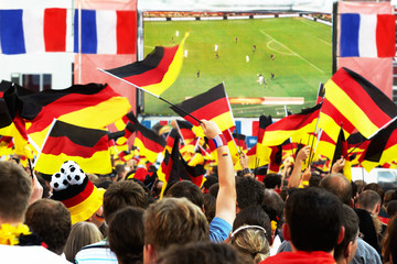 "German Soccer Fans, ""Public Viewing"""