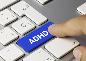 ADHD. Keyboard