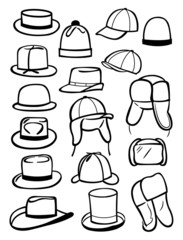 Contours of  male hats