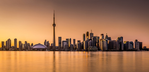 Toronto panorama at sunset