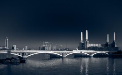 London Battersea Power Station at night