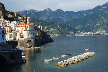 Atrani Village on the Amalfi Coast, Italy, Europe