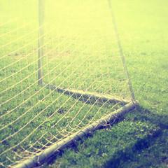 Vintage soccer goal net