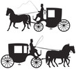 Carriage Silhouettes - 65639959
