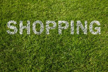 shopping auf rasen