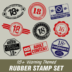 Age Warning Themed Rubber Stamps