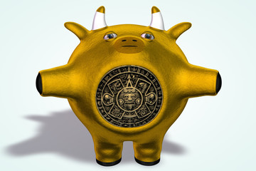 Golden Mayan Cow