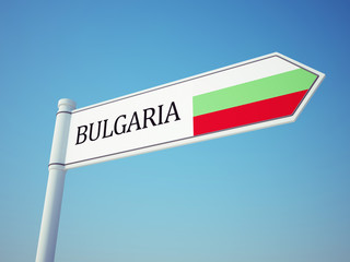 Bulgaria Flag Sign