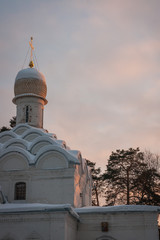 Church in Arkhangelskoye, Moscow, Russia