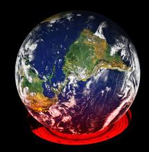 Globalne ocieplenie ziemi za pomocą palnika