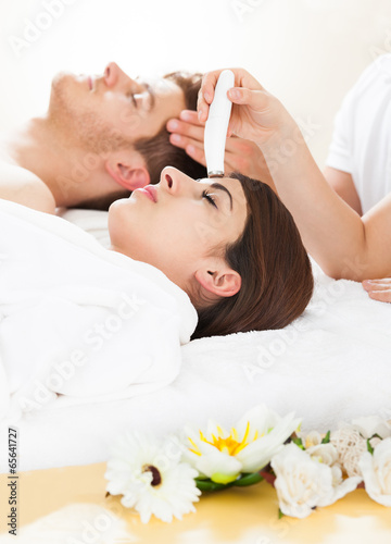poster of Woman Undergoing Microdermabrasion Therapy