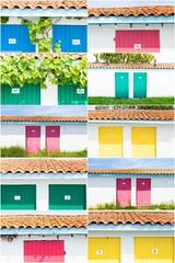 maison colorées des ostréiculteurs de Andernos les bains