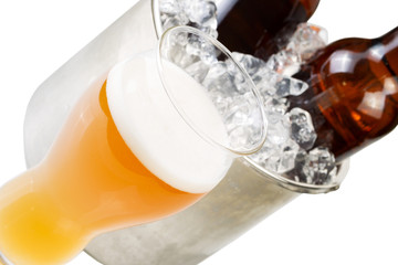 Closeup view of Freshly poured Beer