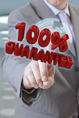 Businessman hand Guarantee