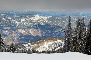 Sunshine on Snowy Mountains
