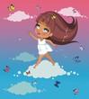 Девочка на облаке
