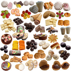 Variety of sweet products.