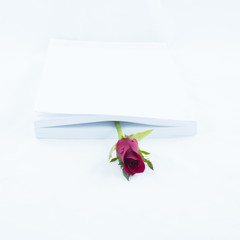 Bookmark book with rose