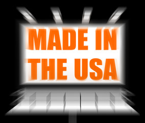 Made in the USA Sign Displays Produced in America