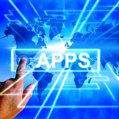 Apps Map Displays Internet and Worldwide Applications