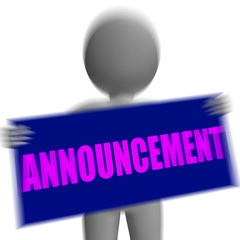 Announcement Sign Character Displays Corporate Communication Or