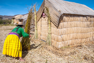Uros - Floating Islands, Titicaca, Peru