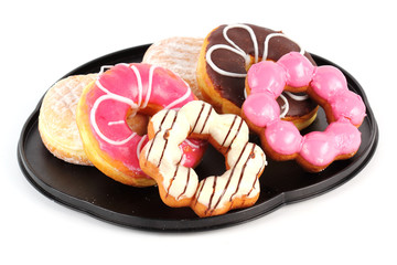 Group of doughnut on the tray
