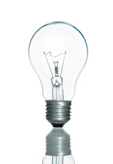 Lamp light bulb isolated