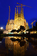 Sagrada Familia in evening