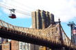 Roosevelt Island Tramway and Queensboro Bridge. - 65647510