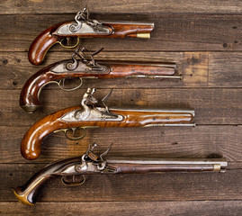 18th Century Flintlock Pistols.