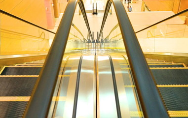 The escalator closeup