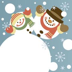 Snowman and little snowman