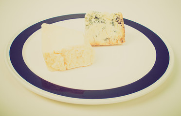 Retro look British cheeses