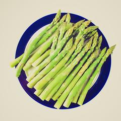 Retro look Asparagus