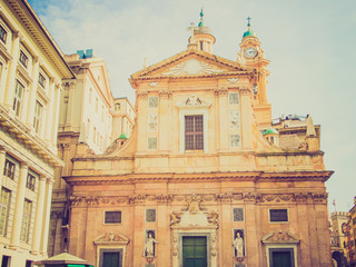 Retro look Chiesa del Gesu in Genoa