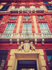 Retro look Palazzo Rosso in Genoa Italy