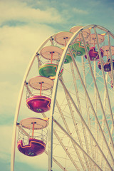 Vintage retro carousel, detail, colors